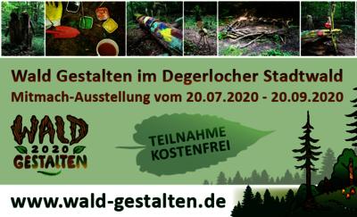 Flyer mit Fotos für die Mitmach-Ausstellung Waldgestalten