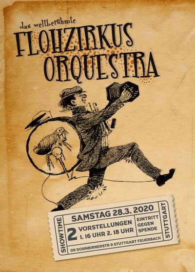 Die Kinderlieder-Band Flohzirkus Orquestra tritt am 28. März in der D9 in Stuttgart-Feuerbach auf.
